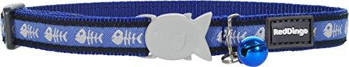 Red Dingo Designer Cat Collar, Fishbone Blue by Red Dingo