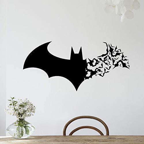 ALXCHD Halloween-Batman-Wand-Familien-Schlafzimmer-Wohnzimmer-Glastür-Tapeten-Aufkleber