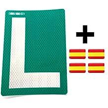 Dhabmin L Novel Pegatina Exterior para Lunas Tintadas Homologada para Coche + Regalo 4 Pegatinas Bandera