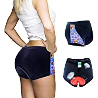 qyy Pantalones Cortos de Bicicleta para Mujer con Gel 3D Acolchado de Mujer de Secado rápido a Prueba de Golpes y Ligeros para Ciclismo Spinning Bicicleta de carretera3XL
