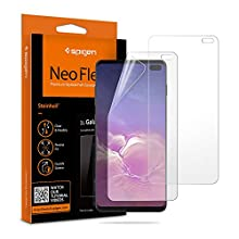 Spigen, 2Pack, Samsung Galaxy S10 PLUS Screen Protector, NeoFlex, Case Friendly, Wet Application, TPU Film, Full coverage, Case Compatible, Samsung S10 PLUS Screen Protector (606FL25994)