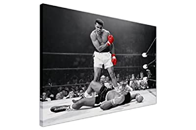 Iconic Muhammad Ali Red Gloves Black And White Large Canvas Prints Wall Art Landscape Pictures