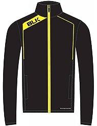 BLK Rugby Veste de survêtement Noir/Jaune