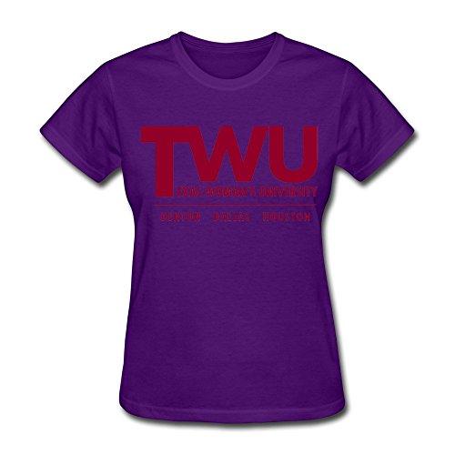 Sluggish min HUIMIN Women's Texas Woman's University T-shirt (Texas University Womens)
