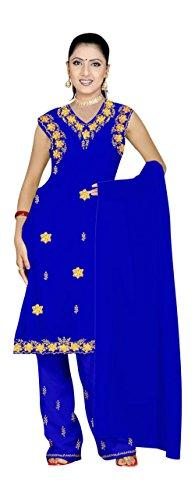 Trendofindia Blaues Salwar Kameez/Punjabi Größe L -