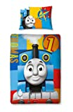 Character World 120cm x 150cm Thomas and Friends Power Junior Panel Duvet Set, Multi-Color