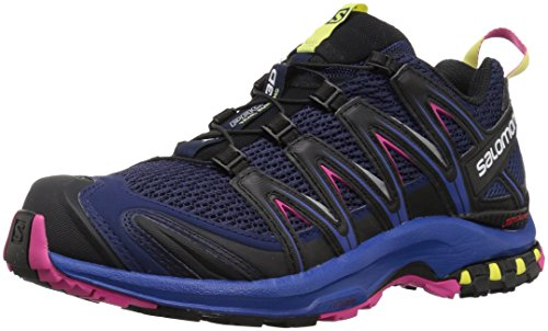 Salomon Damen Trail Running Schuhe XA Pro 3D W Medieval Blue/Surf The Web/Pink Yar 38 2/3