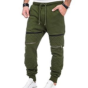 Männer Sporthosen Einfarbig Hip Hop Reißverschluss Fitness Hosen Elastischer Taillenkordelzug Lässige Jogginghose Haremshosen