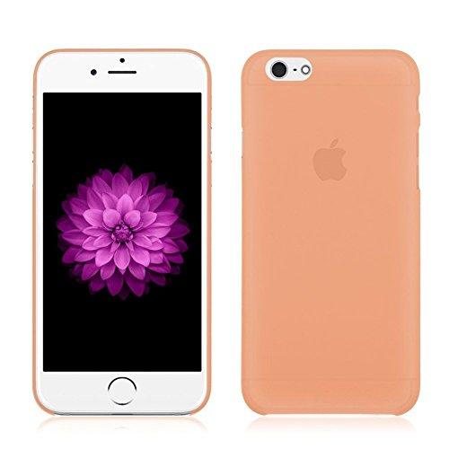"Coque Bumper Cover iPhone 6 / 6s ( 4,7 pouces ) 4.7"" - fin mat ultra mince et ultra leger THEcoque DESIGN case - Rouge ORANGE"