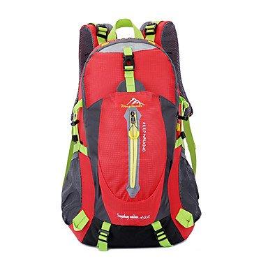 40 L Rucksack Klettern Freizeit Sport Camping & Wandern Regendicht Staubdicht Atmungsaktiv Multifunktions Red