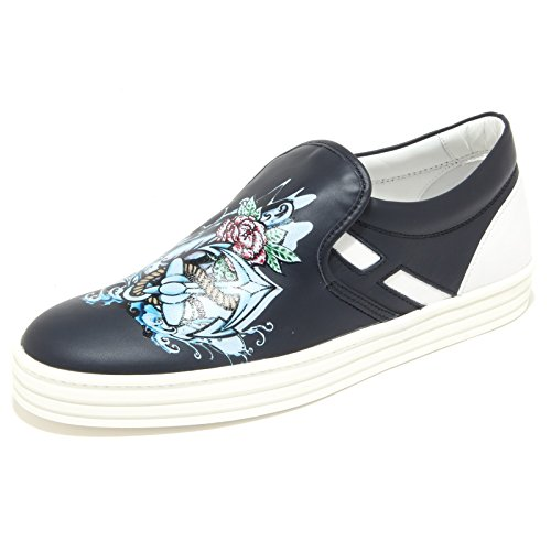 0390N slip on HOGAN REBEL scarpe uomo sneaker shoes men blu blu denim