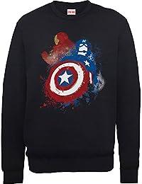 Marvel hombre Captain America Civil War Painted vs Iron Man Camisa de entrenamiento
