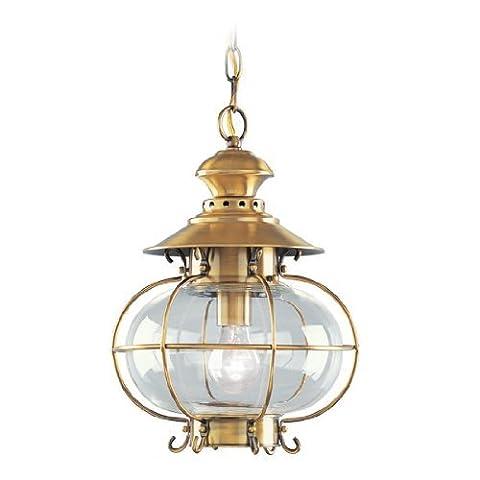 Livex Lighting 2225-22 Harbor 1-Light Outdoor Chain Hang, Flemish Brass by Livex Lighting