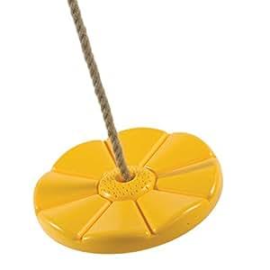 Tellerschaukel GELB Affenschaukel aus Kunststoff, Ø 280 x 40 mm, für eine Schaukelhöhe 1,80 bis 2,50 m von Gartenwelt Riegelsberger