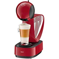 Krups Dolce Gusto Infinissima KP1705 - Cafetera de cápsulas, 15 bares de presión, depósito extraible, bandeja regulable a 3 alturas, color rojo