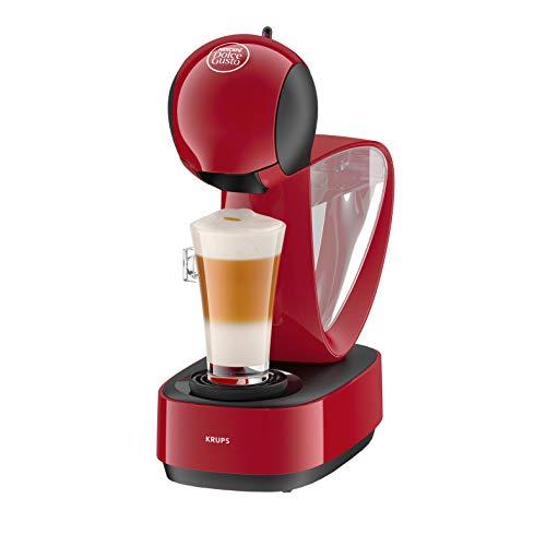 Dolce Gusto Krups Infinissima KP1705SC - Cafetera de cápsulas, sistema Thermoblock, 15 bares de presión, depósito extraíble, bandeja regulable a 3 alturas, 1500 W, 1.2 L, rojo