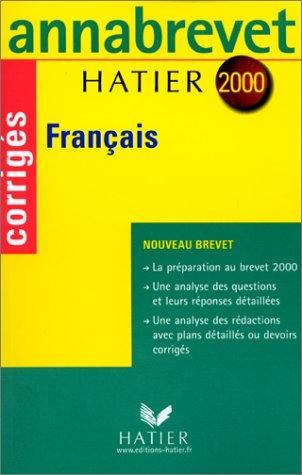 Annabrevet corrigés 2000 - français