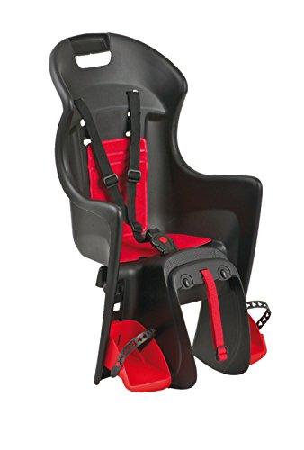 Polisport Kindersitze Babysitz Boodie Befestigung auf Gepäckträger, Schwarz/Rot, One Size