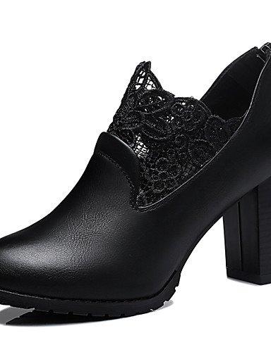 WSS 2016 Chaussures Femme-Bureau & Travail / Décontracté-Noir / Rouge-Gros Talon-Talons-Chaussures à Talons-Synthétique black-us8 / eu39 / uk6 / cn39