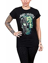 Avenged Sevenfold T Shirt Turbo Skull band logo Official Womens Skinny Fit Black