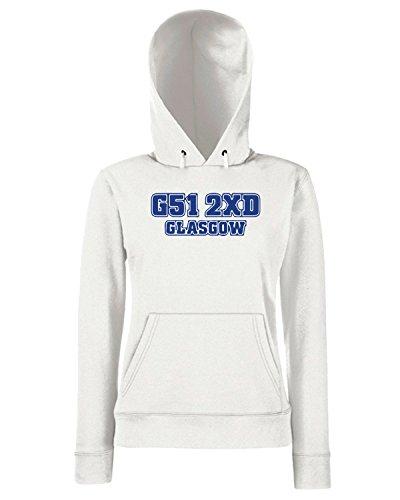 T-Shirtshock - Sweats a capuche Femme WC1062 rangers-postcode-tshirt design Blanc