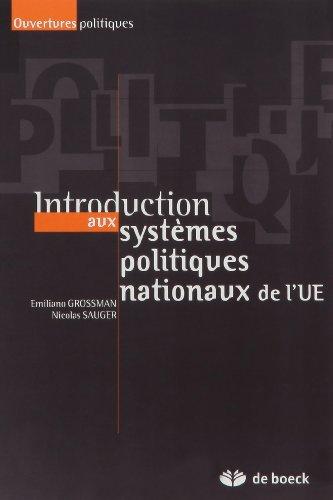 Introduction aux systèmes politiques nationaux de l'UE par Emiliano Grossman