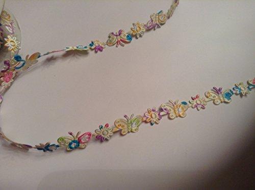 3M x 16mm Schmetterling und Blume. Dies ist ein Nylon/Polyester Geflecht Braid, die ist Mehrfarbig.