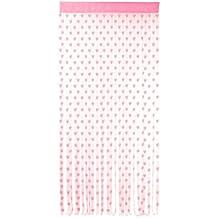 Con flecos cortina de puerta bolsillo flecos con 480 cuerdas y barra [corazones rosa diseño