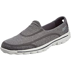 Skechers - GO Walk 2Super Sock, scarpe da donna, Grey (Charcoal), 39 (6 uk)