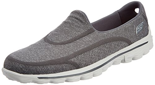 Skechers Gowalk 2 Super Sock Women's Walking Shoes - Grey (Charcoal), 2 UK (35 EU)