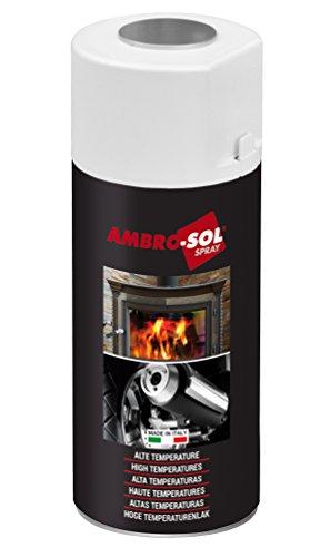Preisvergleich Produktbild Smartcolor Thermospray Hitzbebeständiges Spray Hitzefest bis 850C° schwarz matt 400ml (24,88€je L)