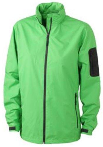 J&N - wetterfeste Damen Outdoor-Jacke (JN1040) Limonengrün/Karbon