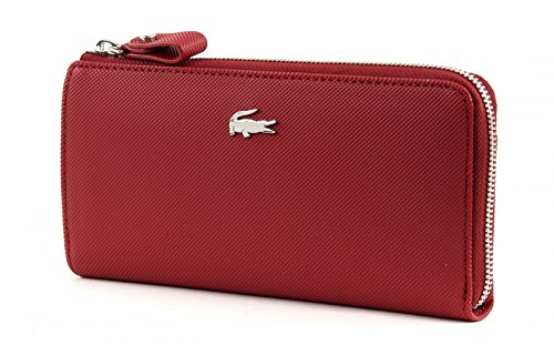Lacoste - Portefeuille Daily classic (nf1796dc) taille 9.5 cm Rio Red (Rouge)