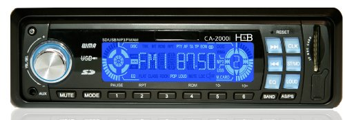 H&B USB/SD MP3 Digitales Autoradio 2000i (4x 40 Watt, Aux-In) Verkürzte Einbautiefe