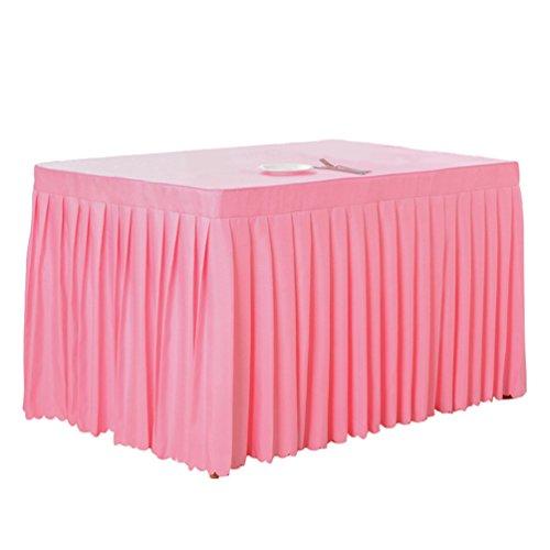 Anguang Pflegeleicht Tischdecke Mode Zuhause Hochzeit Dekoration Tischrock Konferenztisch Rock Pink...