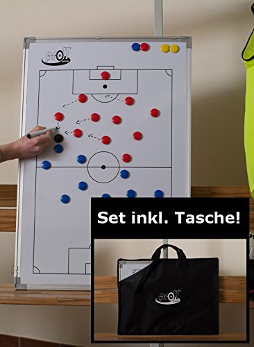 pro11 - Fußball-Taktikboard, 60 x 90cm mit Tasche | magnetische Taktiktafel Fußball