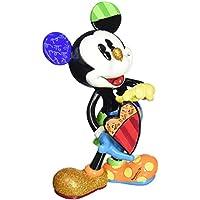 Enesco Disney By Romero Britto Mickey con Cuore Girando, Ceramica, Multicolore, 12x19x22 cm