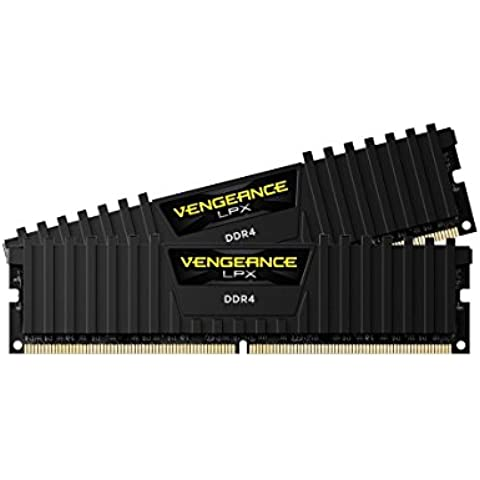 Corsair Vengeance LPX - Módulo de memoria XMP 2.0 de alto rendimiento de 16 GB (2 x 8 GB, DDR4, 3000 MHz, CL15), negro (CMK16GX4M2B3000C15)