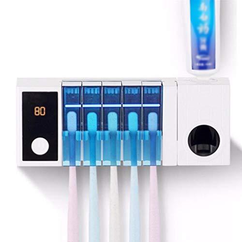 AMYAO Esterilizador Ultravioleta, Cepillo de Dientes esterilizador UV Titular de Montaje en Pared automático...