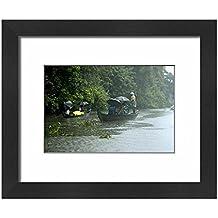 Robert Harding Framed 10x8 Print of Life during the monsoon rains, Kerala, India (3615033)