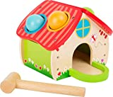 Small Foot- Casa martellare, in Un Bel Design Quattro Palline Colorate ed Un Martello di Legno Giocattoli, Multicolore, 11084