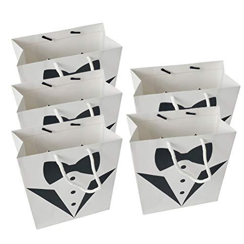 ative Braut Weiß Kleid Taschen Einkaufen Geschenkpapier Taschen Weiß Kleid Taschen Kosmetik Papier Taschen Geschenk Papiertüten mit Griffen (weißes Kleid) ()