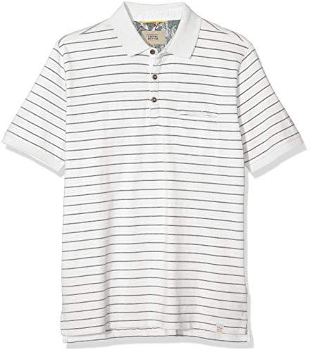 Star White Bekleidung (camel active Herren Polo 1/2 Poloshirt, Weiß (White Core 01), X-Large (Herstellergröße: XL))