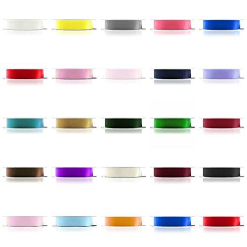 Farringtons  'Premium Qualität' 92M Rollen, Doppelseitig Satinband (Full Rollen). 3mm, 6mm, 10mm, 15mm, 25mm Breiten. 2kaufen +, Get 15% Off, Rose, 10 mm