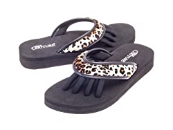 Pedi Couture Spa, Pedicure, Sandal, Black With Leopard Look
