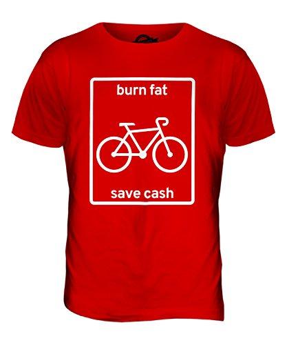 CandyMix Radfahren Burn Fat Save Cash Herren T Shirt Rot