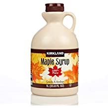 Kirkland 100% Jarabe de arce Grado A (Ámbar Oscuro) - 1 litro (