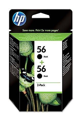 HP 56 2-pack Black Original Ink Cartridges