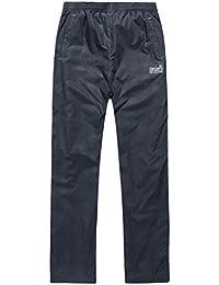hibote niños a prueba de lluvia Pantalón impermeable 100% a prueba de viento calor respirable para los niños 170cm (azul oscuro)