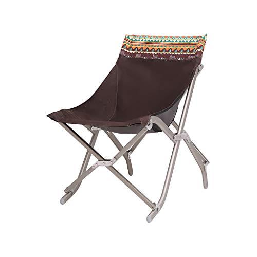 Gxf1222 GXF Deckchairs Tragbare Aluminium Lazy Stuhl Camping Skizze Mond Stuhl Strand Angeln Stuhl...